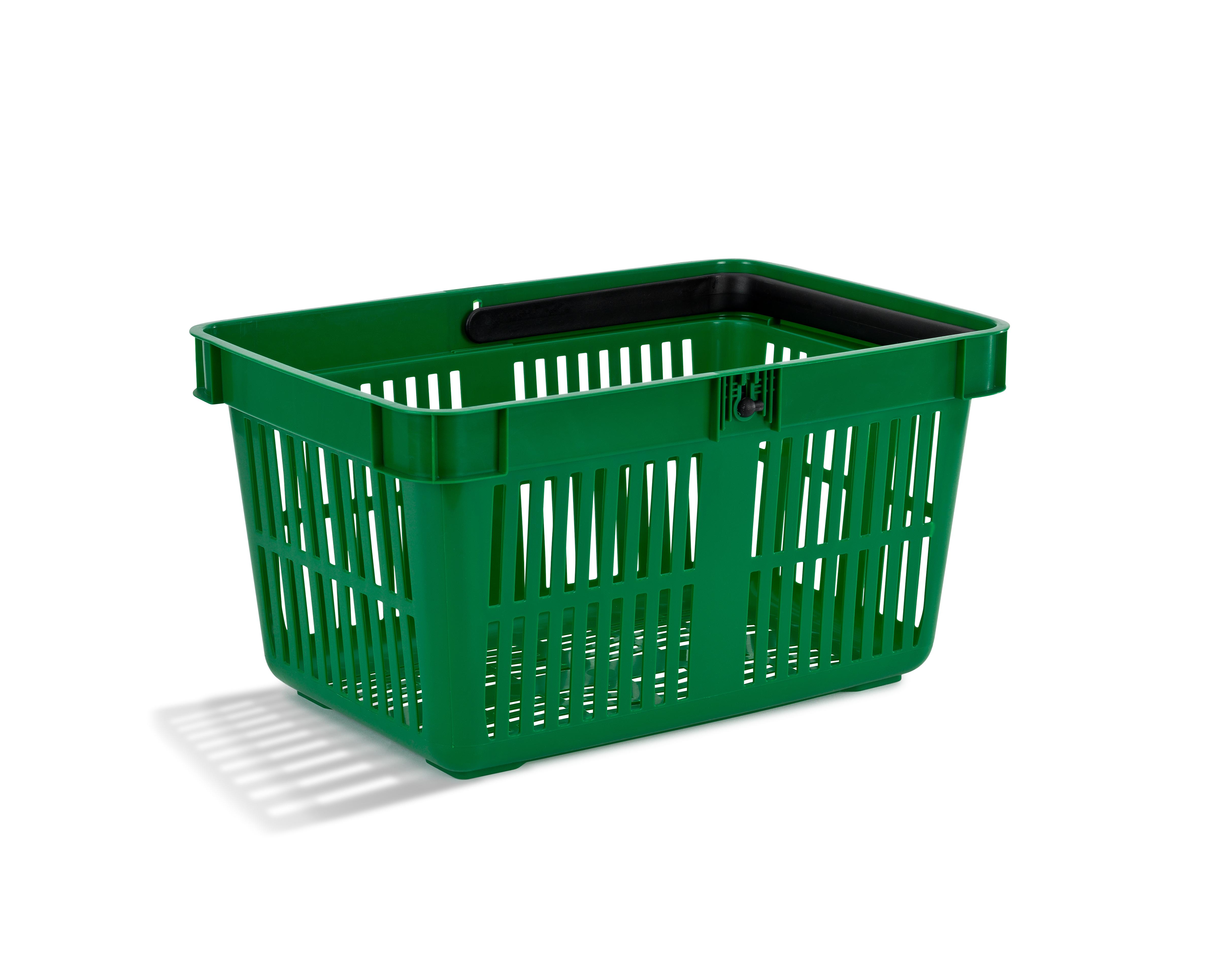 Pirkinių krepšelis žalios spalvos 27 L