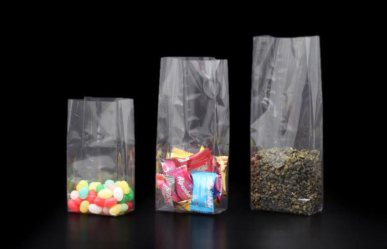 BOPP Plastikiniai maišeliai 100x60x280 mm su stačiakampiu dugneliu. Pakuotėje po 100 vnt.