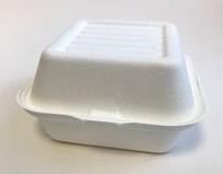 ECO cukranendrių konteineris maisto išsinešimui 153x147x75 mm, pakuotėje 50 vnt.