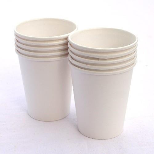 Popieriniai Kraft balti puodeliai 350 ml. Pakuotėje - 50 vnt
