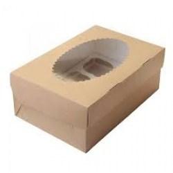 ECO dėžutė su įdėklu 6 keksiukams 250x170x100mm Image 0