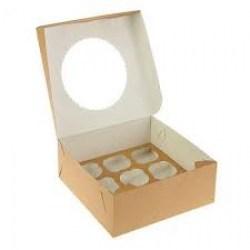 ECO dėžutė su įdėklu 9 keksiukams 250x250x100mm Image 1