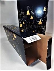 Dovanų dėžutė 162x78x363 mėlyna su eglutėmis Image 2