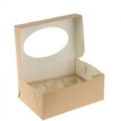 ECO dėžutė su įdėklu 6 keksiukams 250x170x100mm Image 1