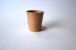 Popieriniai Kraft rudi puodeliai 200/250 ml. Pakuotėje - 30 Vnt. Image 0