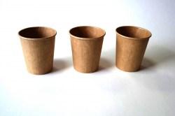 Popieriniai Kraft rudi puodeliai 200/250 ml. Pakuotėje - 30 Vnt. Image 1