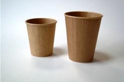 Popieriniai Kraft rudi puodeliai 350/400 ml. Pakuotėje - 25 Vnt Image 1