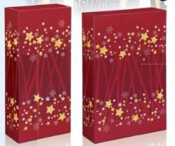 Dovanų dėžutė 162x78x363 raudona su žvaigždutėmis Image 1