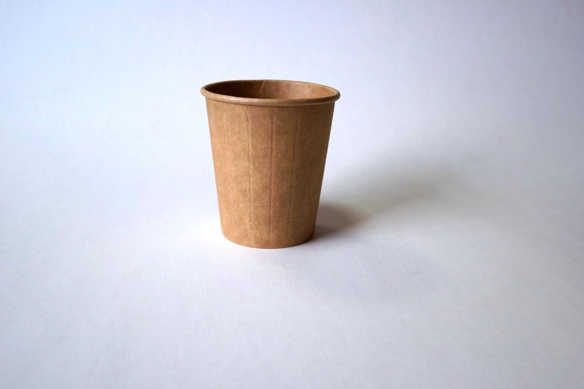 Popieriniai Kraft rudi puodeliai 200/250 ml. Pakuotėje - 30 Vnt.