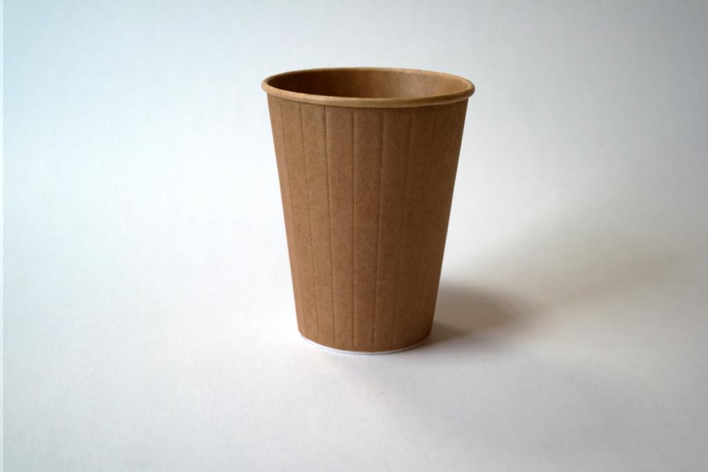 Popieriniai Kraft rudi puodeliai 350/400 ml. Pakuotėje - 25 Vnt
